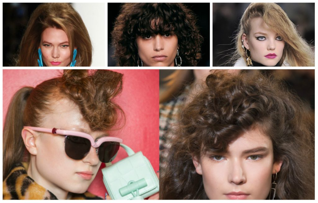 80's hair Seen at: Isabel Marant, Kenzo and Moschino