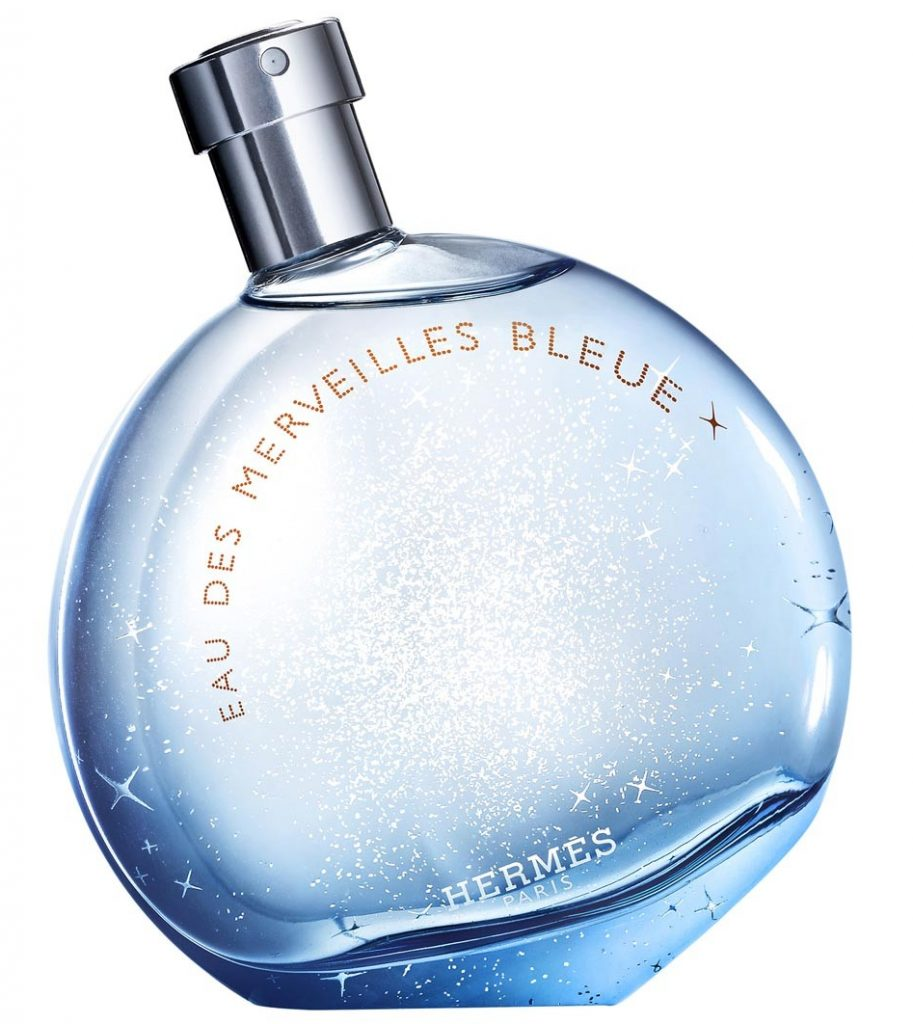 Hermes turns bleue with a new edition of its famous Eau de Merveilles fragrance
