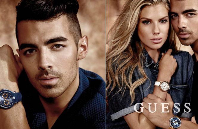 Joe Jonas new Guess watch campaign