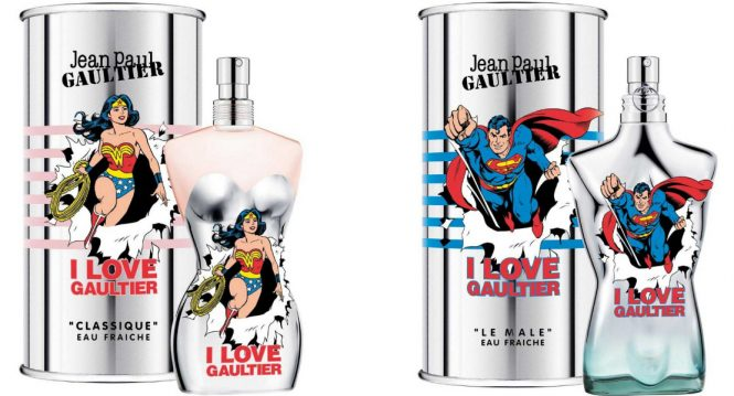 Wonder Woman & Superman star on Jean Paul Gaultier limited editions