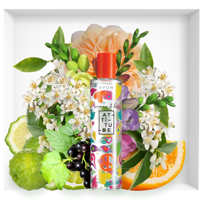 Avon Peace&Love Attitude fragrance 2018